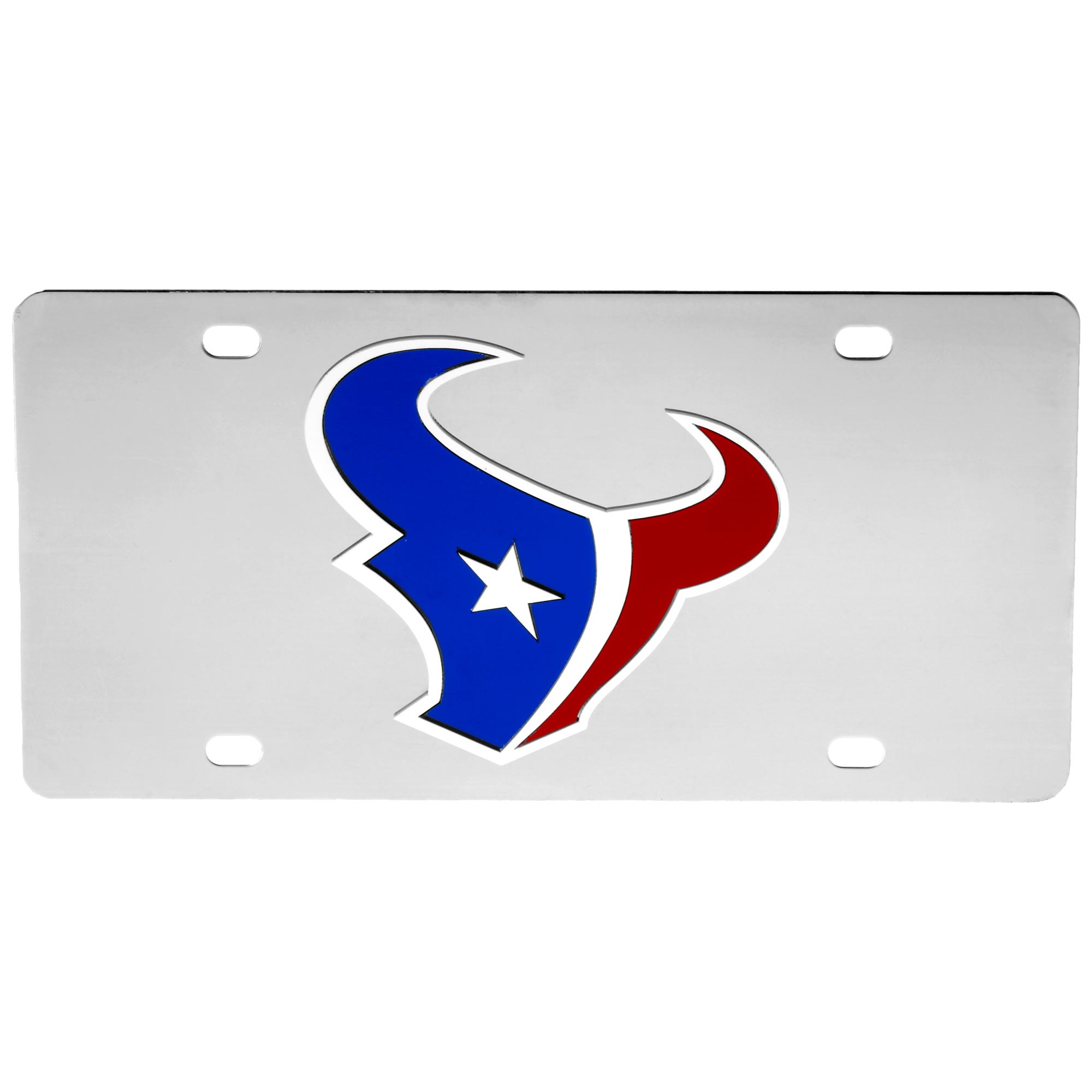 Houston Texans Stainless Steel License Plate - No Size