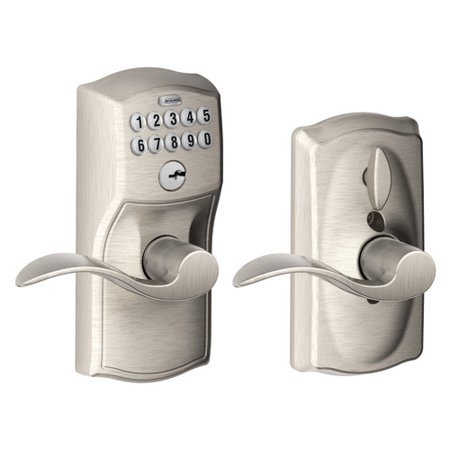 - Schlage Accent Keypad Lever with Camelot Trim