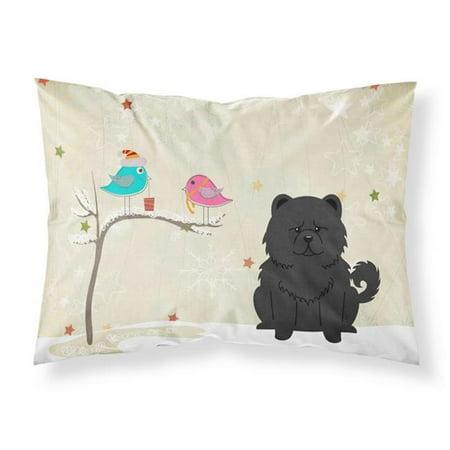 Carolines Treasures BB2615PILLOWCASE Christmas Presents Between Friends Chow Chow Black Fabric Standard Pillowcase, 20.5 x 0.25 x 30 in. - image 1 de 1