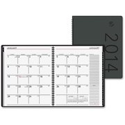 AT-A-GLANCE 2PPM Contemporary Monthly Desk Planner