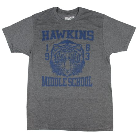 Stranger Things Hawkins Middle School Television Series Men's T-Shirt - School Things