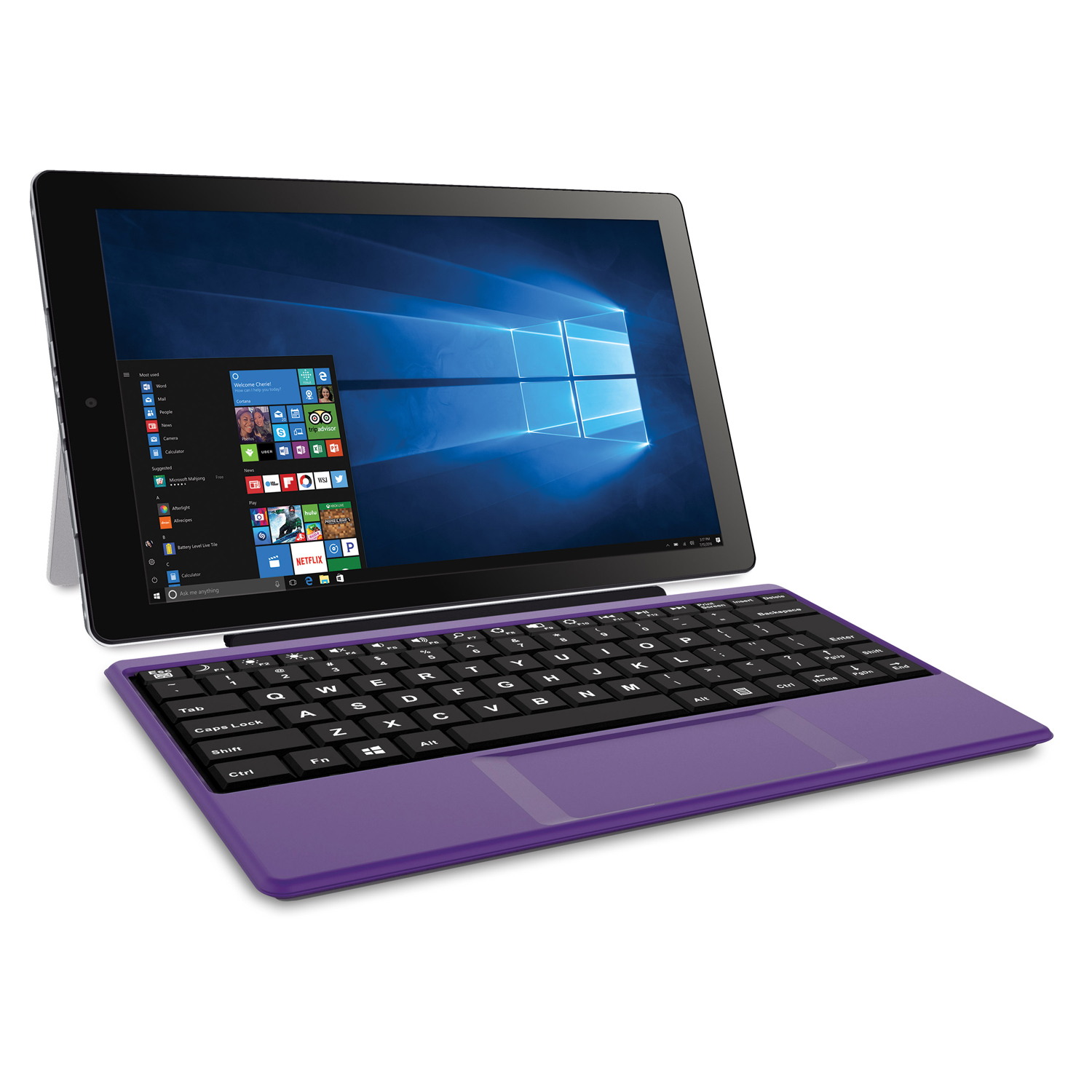 "RCA Cambio 10.1"" 2 in 1 32GB Tablet with Windows 10, Intel Atom Z8350 2GB RAM, Includes Keyboard"
