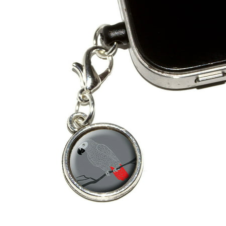 African Grey - Bird Parrot Pet Mobile Phone Charm (Cute Cell Phone Charm)