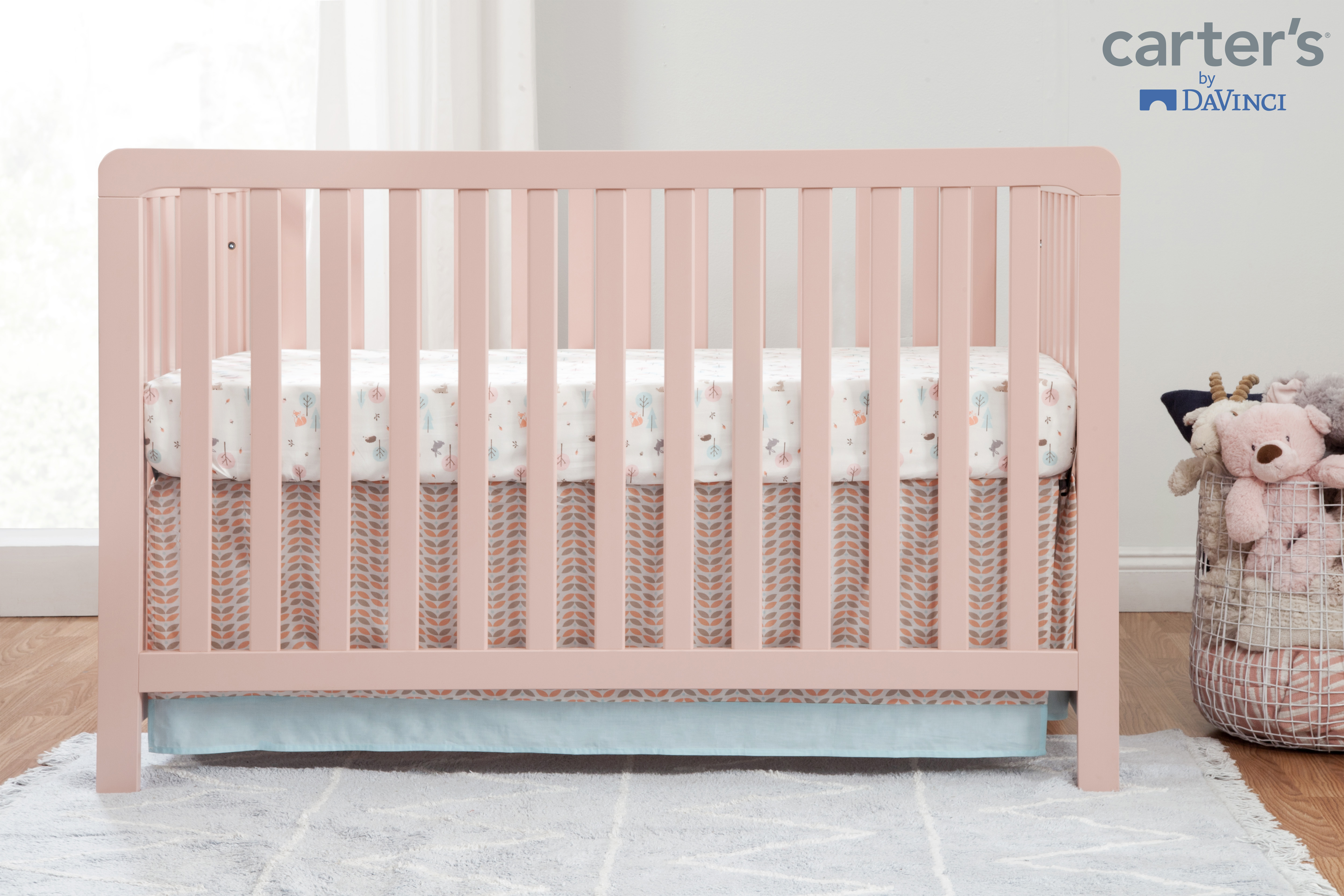 Carter S By Davinci Colby 4 In 1 Convertible Crib In Gray And White Walmart Com Walmart Com