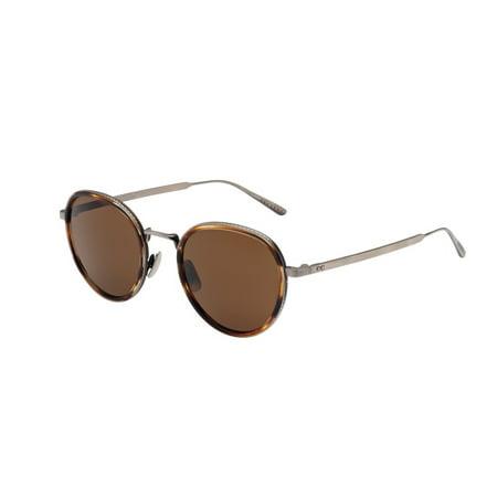 Bottega Veneta BV0018S 002 Silver Brown Sunglasses