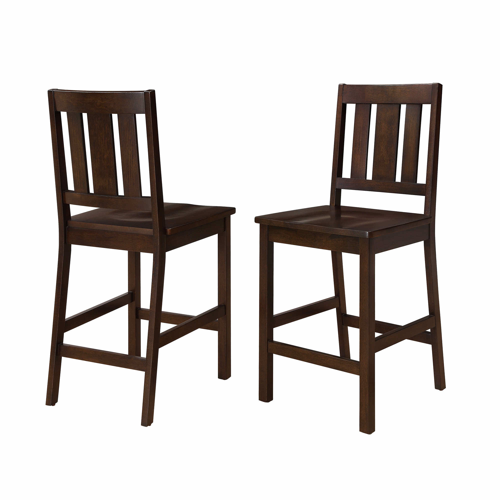 Better Homes and Gardens Bankston Counter Height Stool, Set of 2, Mocha