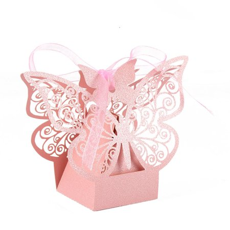 10pcs Wedding Favor Candy Boxes Hollow Butterfly Party Birthday Gift Boxes