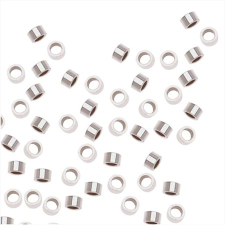 Sterling Silver Crimp Beads 2 x 1mm (50)