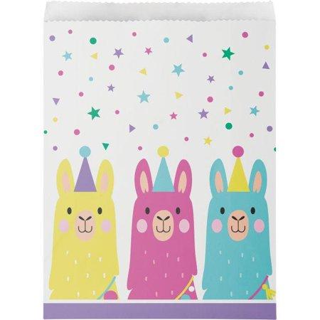 Creative Converting Llama Party Treat Bags, 10 ct