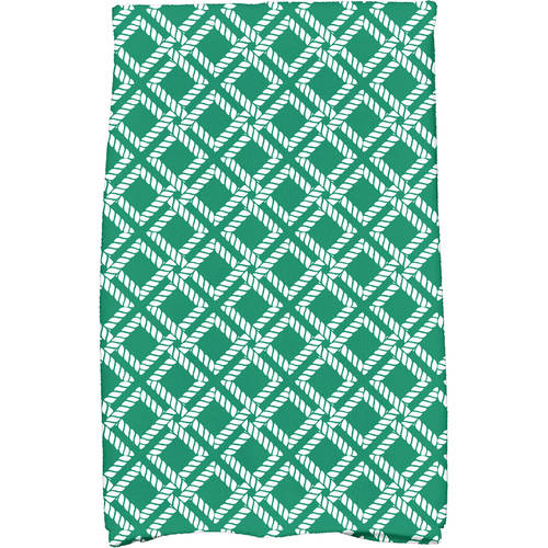 """Simply Daisy 16"""" x 25"""" Rope Rigging Geometric Print Kitchen Towel by E By Design"""