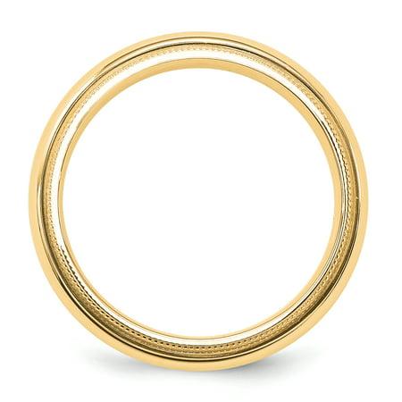 14K Yellow Gold 5mm Milgrain Comfort Wedding Band - image 2 de 3