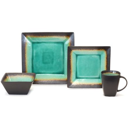 Better Homes And Gardens Jade Crackle 16 Piece Dinnerware Set