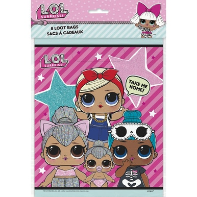 LOL SURPRISE DOLLS 4 SLEEP MASKS BIRTHDAY PARTY FAVORS SUPPLIES GIFT L.O.L Lol