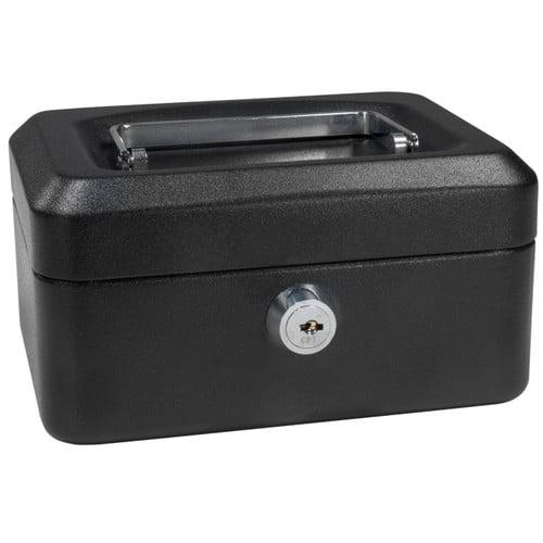 Barska Extra Small Black Cash Box with Key Lock by Barska