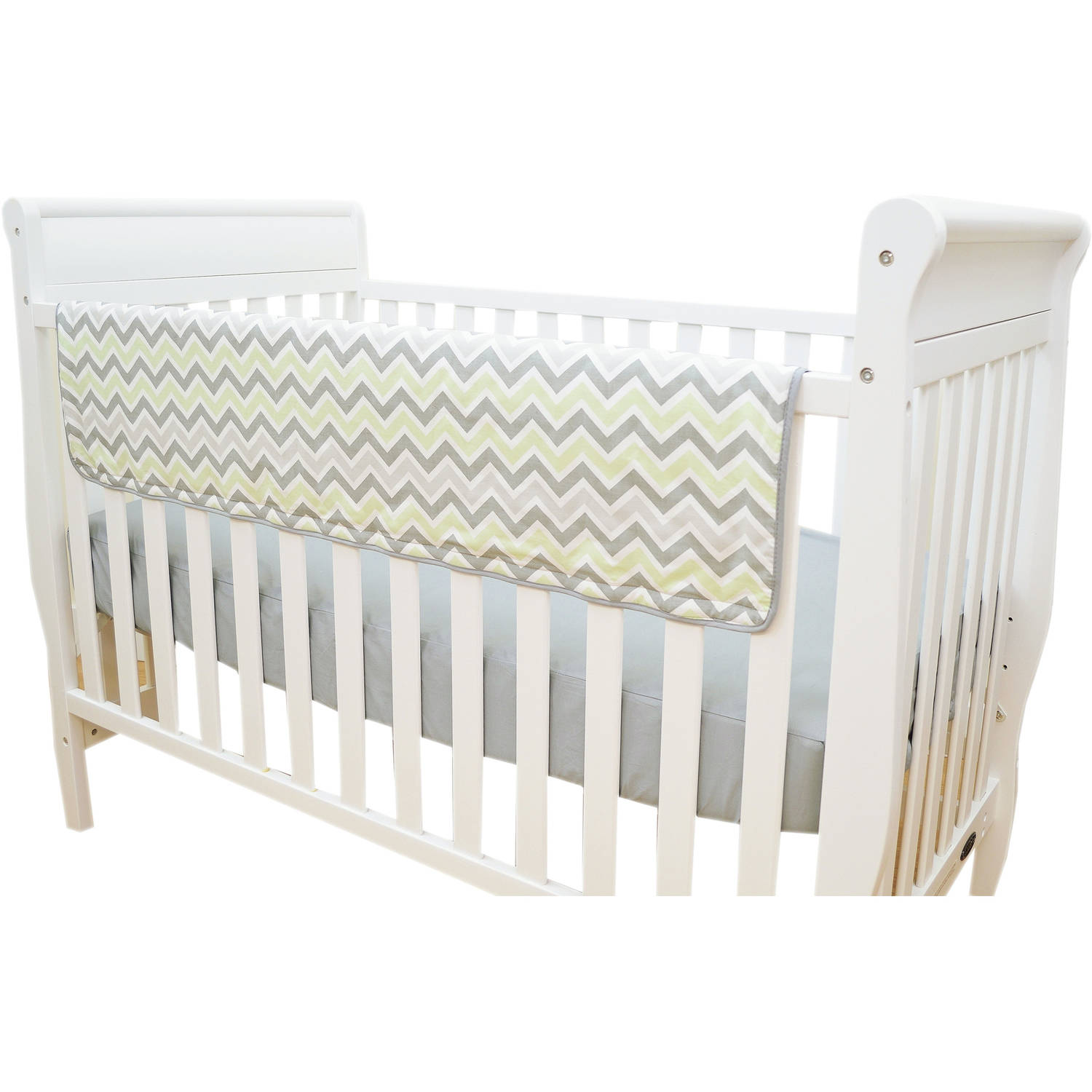 TL Care Crib Rail Cover, Celery Zigzag