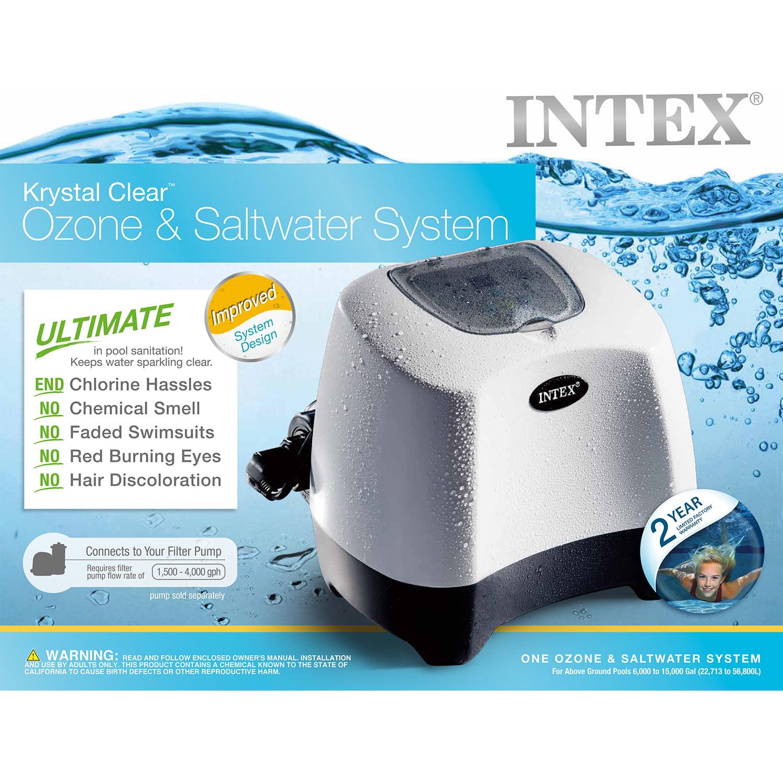 intex krystal clear ozone and saltwater system for above ground rh walmart com Intex Saltwater System Walmart Intex Saltwater System Adapters