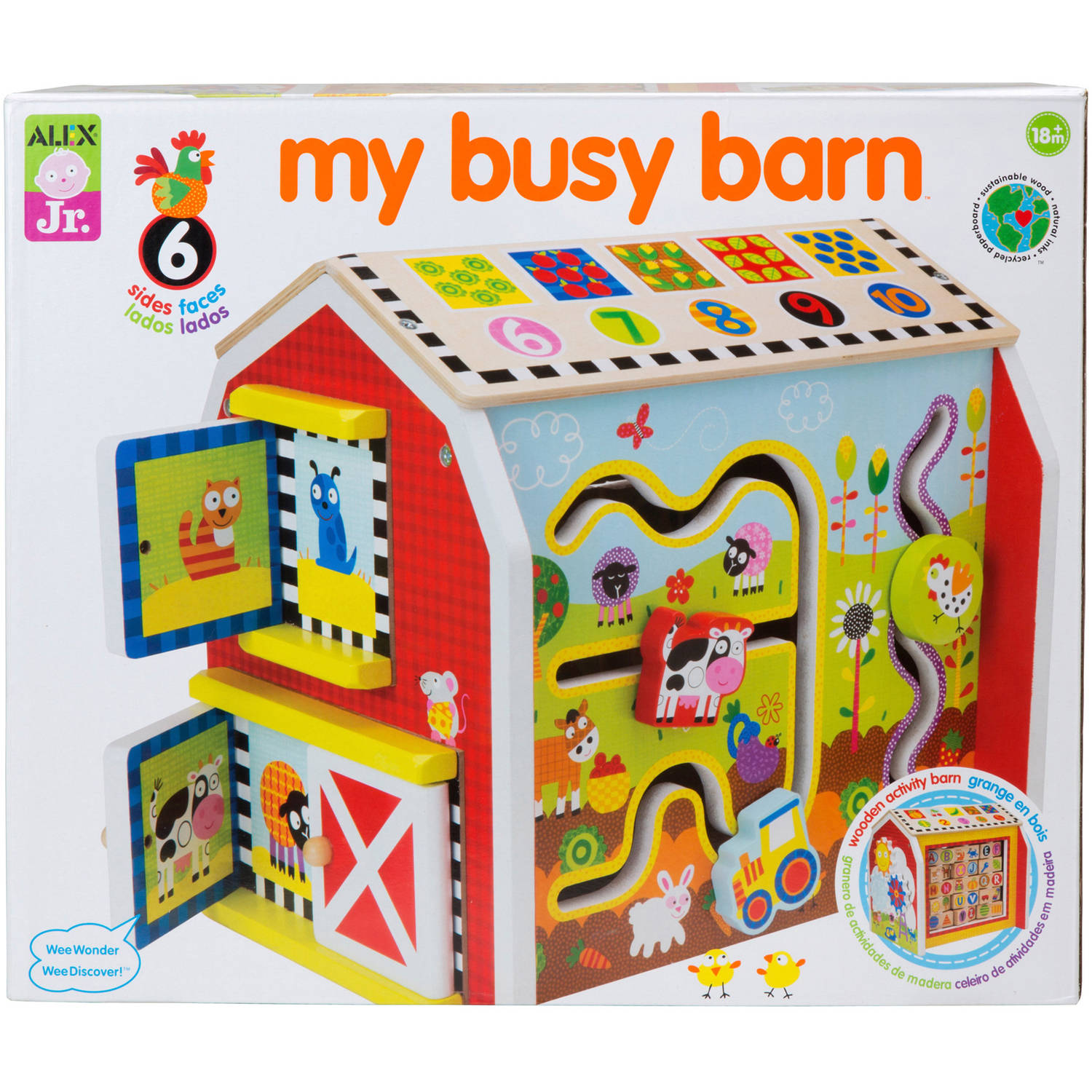 ALEX 1998 My Busy Barn Learning Toy