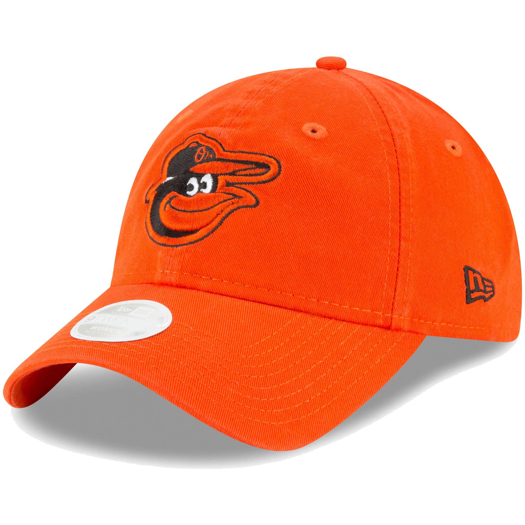 Baltimore Orioles New Era Women's Core Classic Twill Team Color 9TWENTY Adjustable Hat - Orange - OSFA