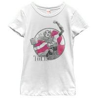 Marvel Girls' Jane Foster Thor Hammer T-Shirt