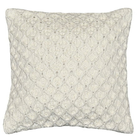 Better Homes & Gardens Sweater Knit Decorative Throw Pillow, 17