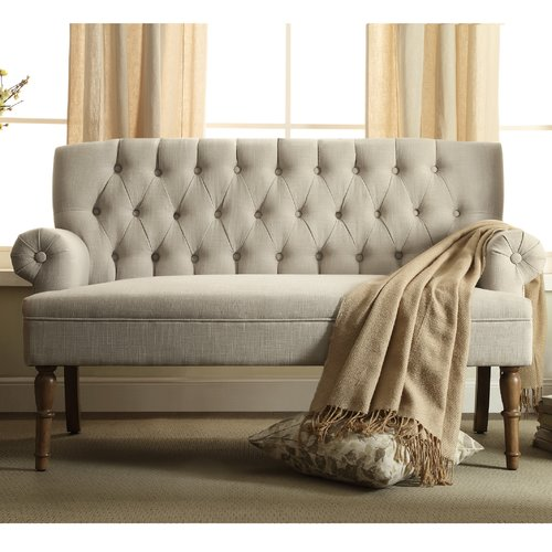 iNSTANT HOME Hermosa Tufted Upholstered Settee
