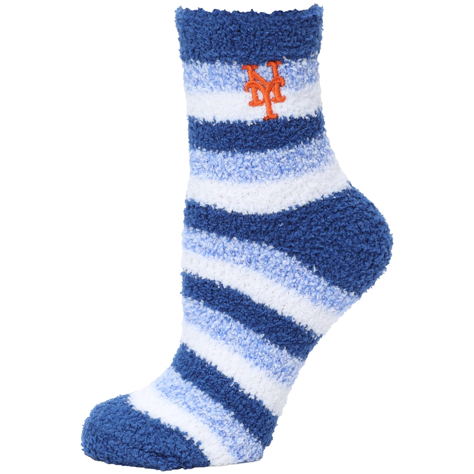 New York Mets Women's Fuzzy Steps Quarter-Length Socks - M