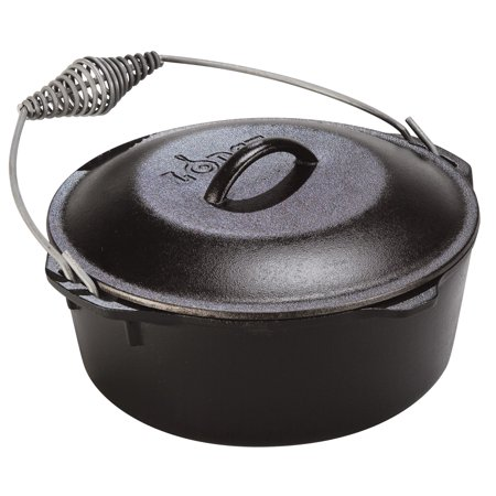 Lodge 7 Quart Cast Iron Dutch Oven With Iron Cover L10DO3