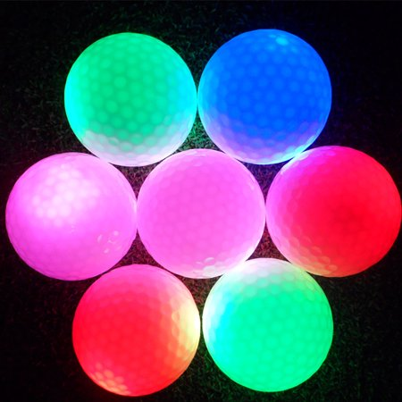 Hilitand 1Pc Electronic LED Color Flashing Golf Ball for Dark Night Sport Practice Training , LED Golf Ball, Lighted Golf Ball