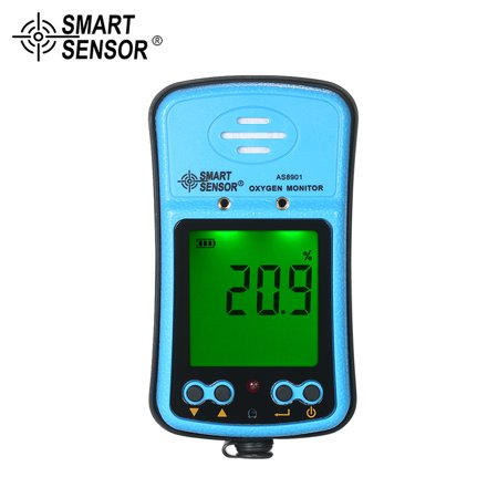 SMART SENSOR Professional Industrial Digital Handheld Portable Automotive Oxygen Meter High Precision O² Gas Tester Monitor Detector with LCD Display Sound and Light Vibration Alarm 100-240V - image 7 of 7