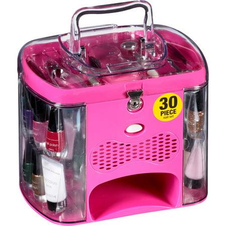 The color workshop incredible nails salon nail set pink for Acrylic nails walmart salon
