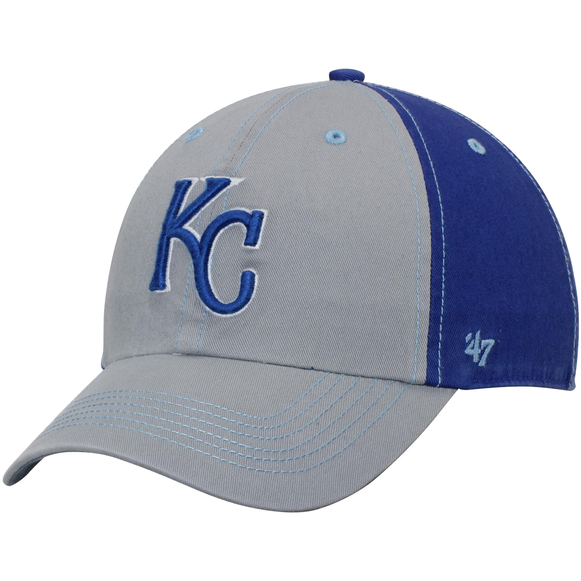 Kansas City Royals '47 Tumult Clean-Up Adjustable Hat - Gray/Royal - No Size