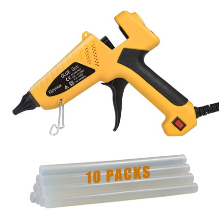 HURRISE 10 Pcs Premium Glue Gun Sticks for DIY Craft Glue Gun Ejoyous 100 Watt Hot