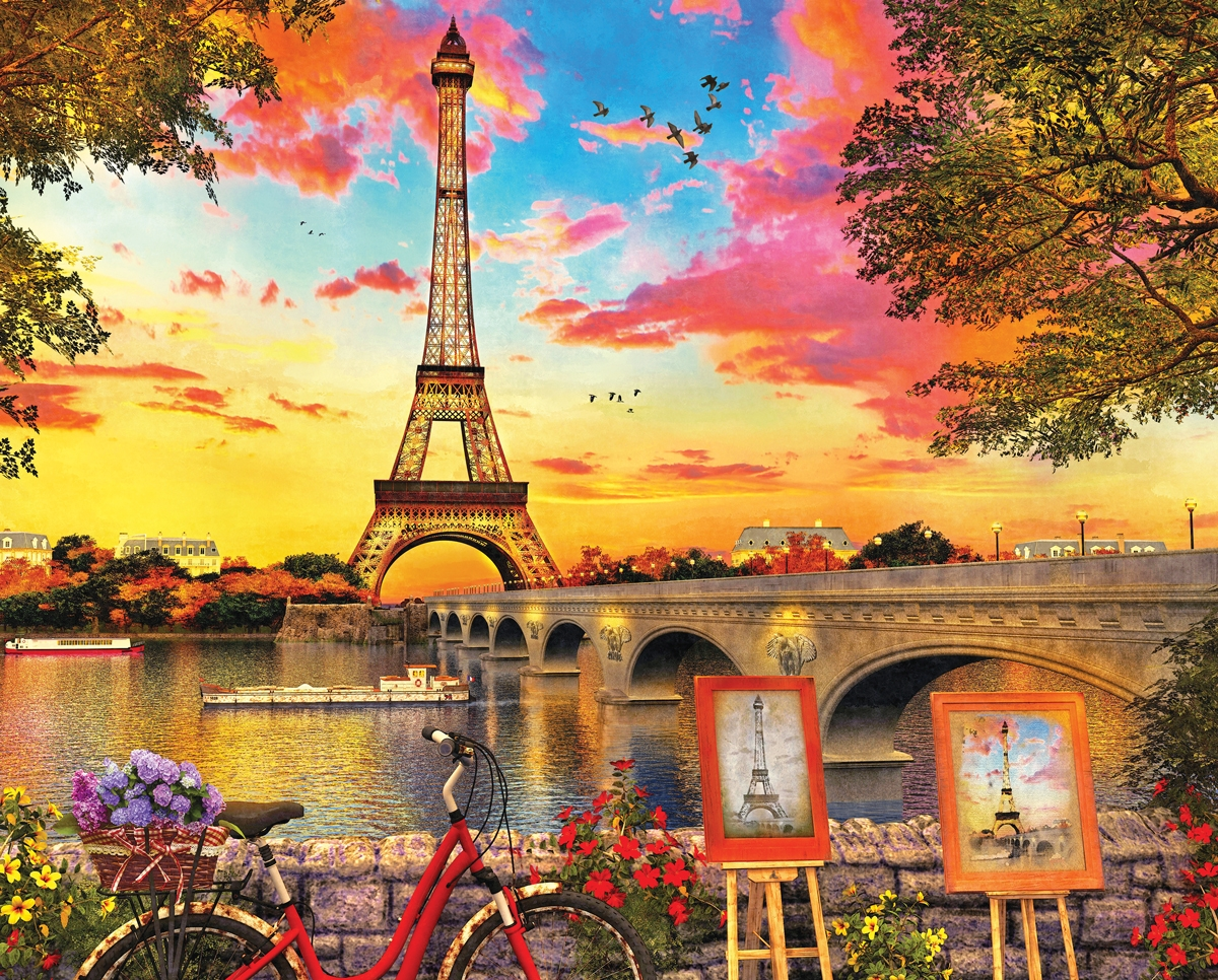 Paris Sunset 1000 Piece Jigsaw Puzzle by Allied Products Corporation