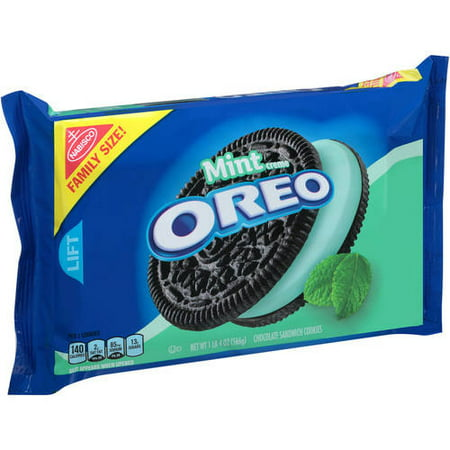 (3 Pack) Nabisco Mint Creme Oreo Chocolate Sandwich Cookies, 20 oz