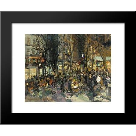 - Parisian Street 20x24 Framed Art Print by Konstantin Korovin