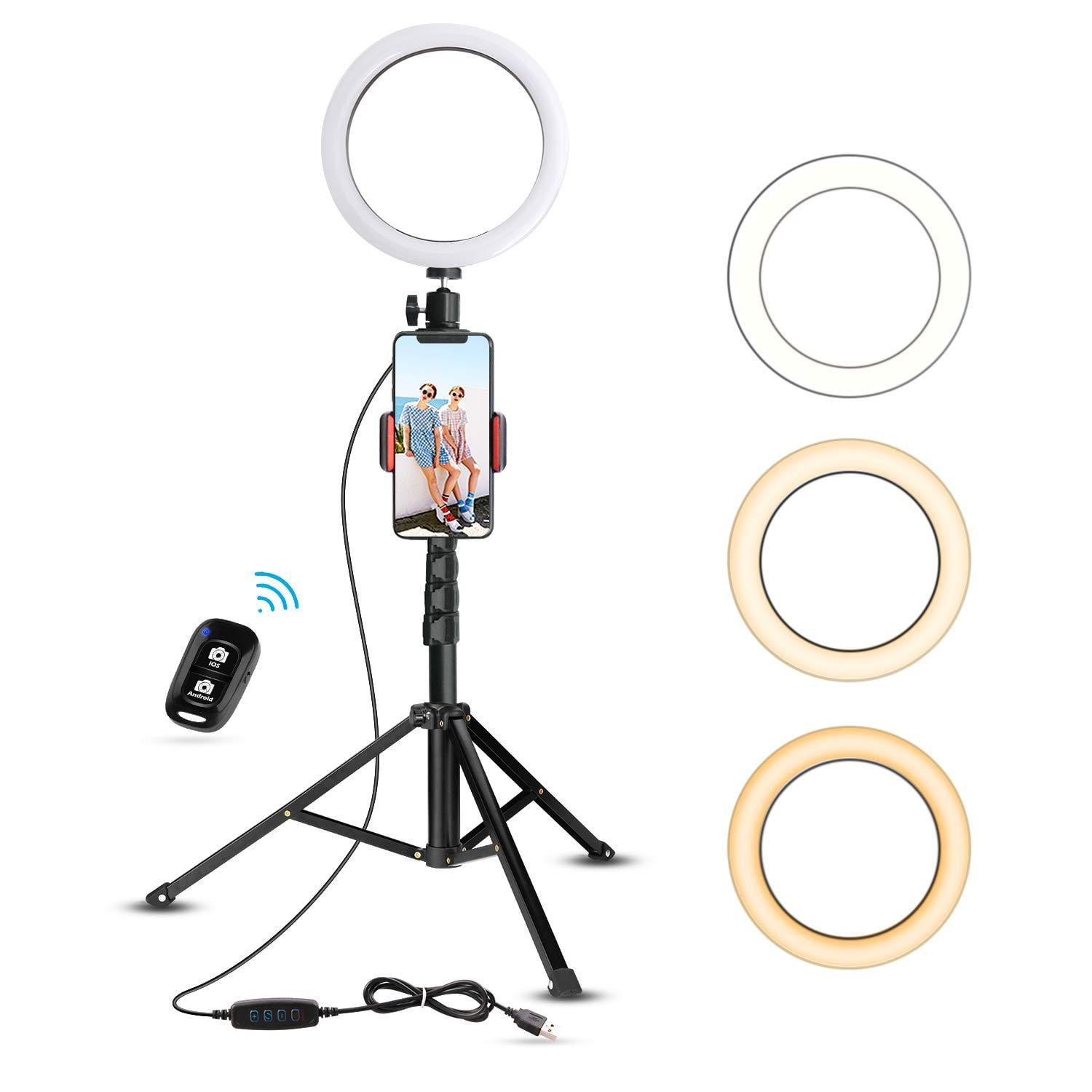 8 Ring Light with Tripod Stand and Template Tool Set for Artwork