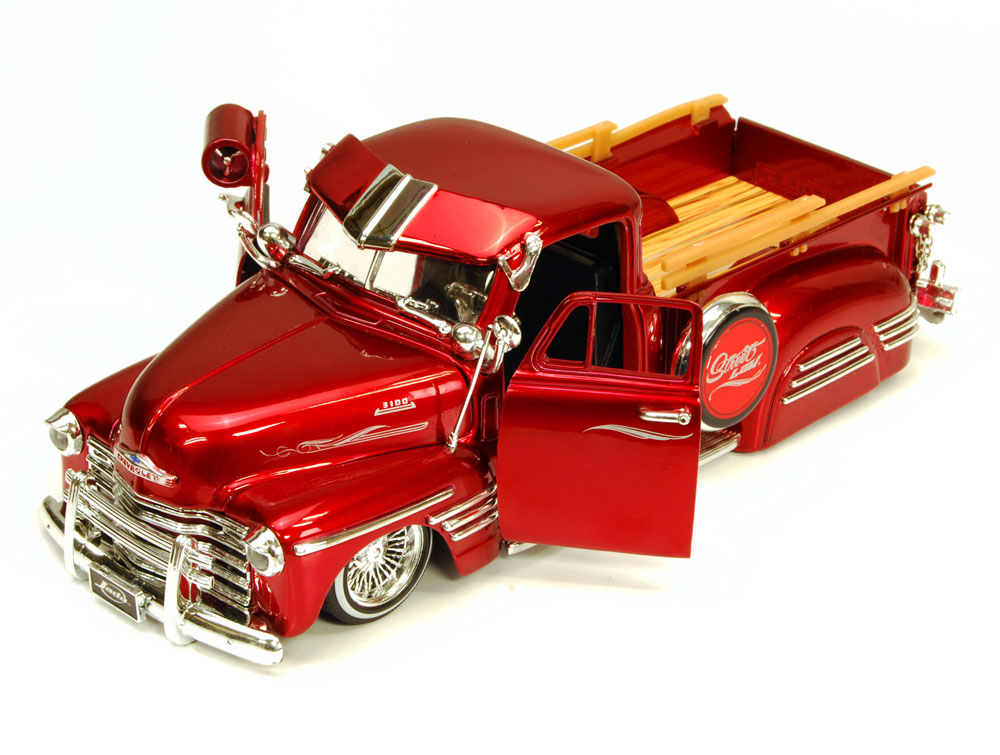 1951 Chevy Pickup Truck, Red Jada Toys Bigtime Kustoms 96224 1 24 scale Diecast Model Toy... by Jada
