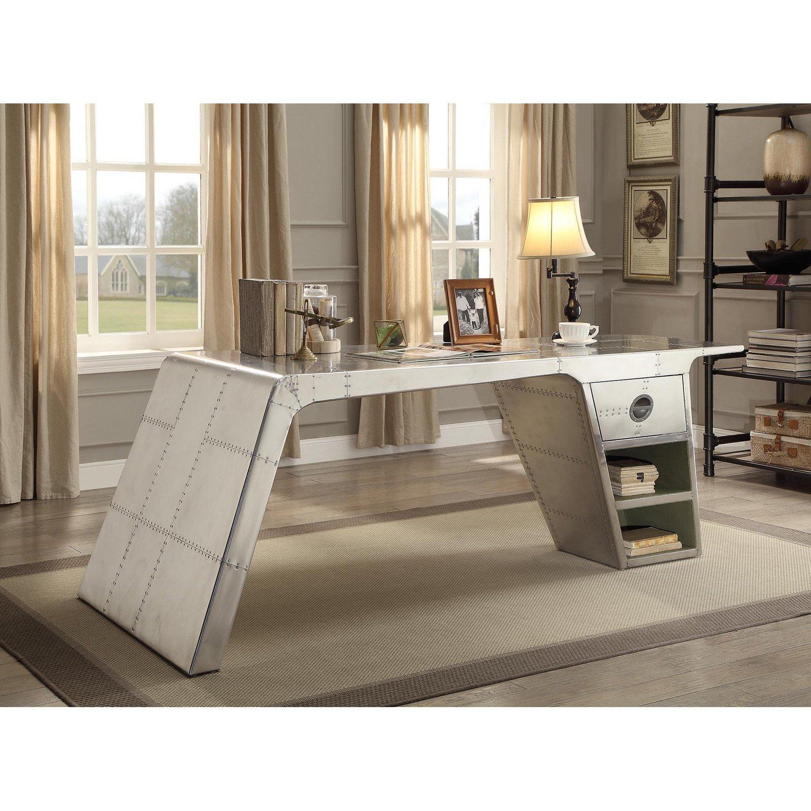 Image of Acme Brancaster Desk, Aluminum