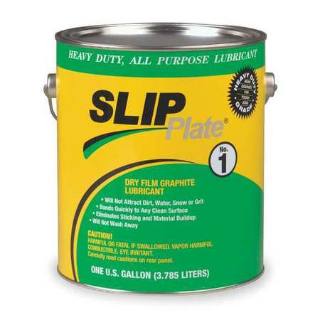 SLIP PLATE 33015 Graphite Dry Film Lubricant, 1 Gal.