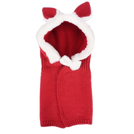 Baby Crochet Knit Hat Cape, Red Rabbit Ear - Magic Hat With Rabbit