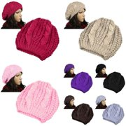 Womens Winter Warm Hat Beanie Ball Cap Hat (7 Colors Pack) (7-in-1 Accessory Bundle)