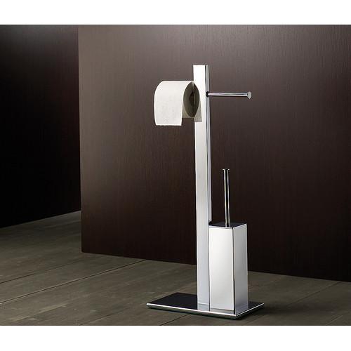 Gedy by Nameeks Bridge Bathroom Butler Free Standing Toilet Brush Set