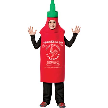 Sriracha Bottle Halloween Costume (Sriracha Tunic Child Halloween Costume, One Size,)