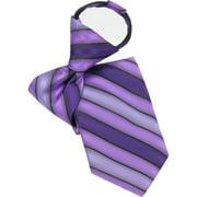 Men's Pack Stripe Zip Necktie, Purple