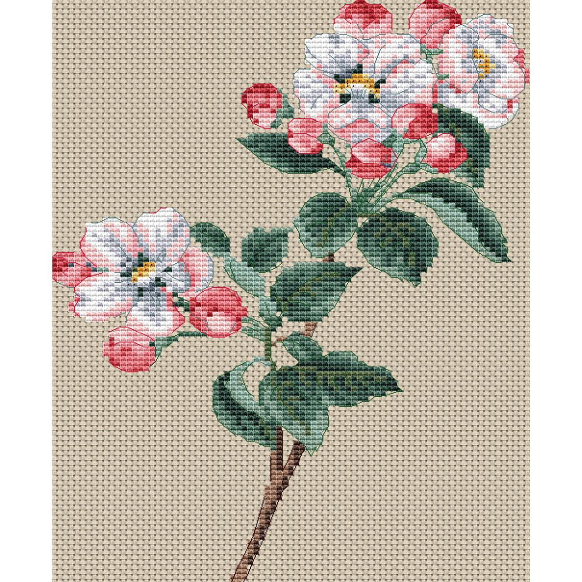 "Floragenius Counted Cross Stitch Kit 6""X9""-Pyrus Malus - image 1 de 1"
