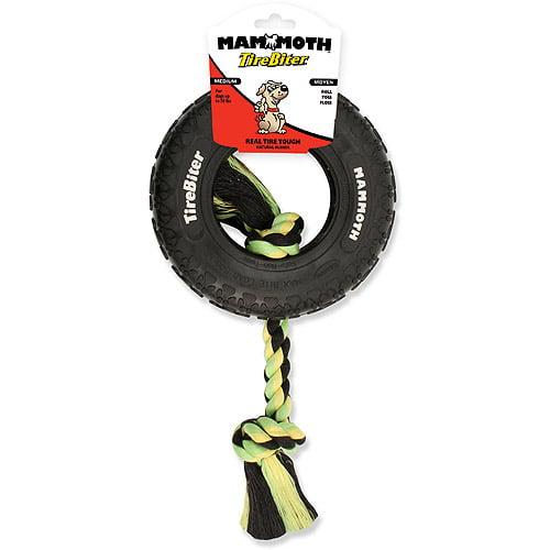 "Mammoth TireBiter Mini Dog Toy with Rope, 3.5"""