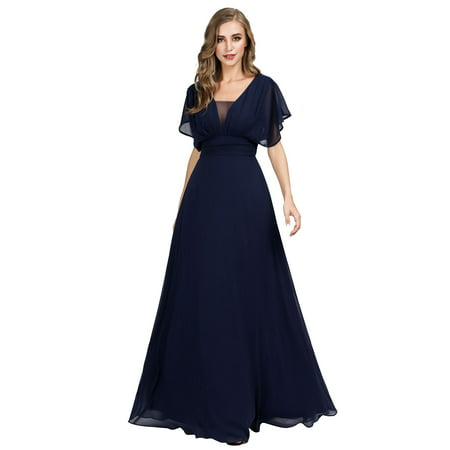 Ever-Pretty Womens Chiffon Long Formal Evening Party Mother of the Bride Dresses for Women 07851 US4 Chiffon Formal Evening Dress