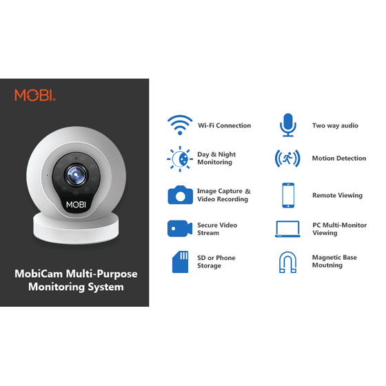MobiCam Multi-Purpose, Wi-Fi Video Baby Monitor, Baby Monitoring