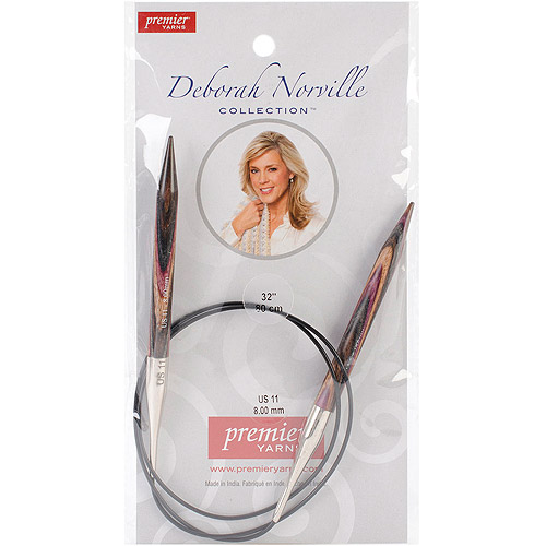 "Premier Yarns Deborah Norville Fixed Circular 32"" Needles"