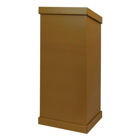 Pacon Cardboard Floor Lectern, 43-3/4 in H X 18-3/4 in W X 14-1/2 in D